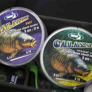 KATRAN Taper mono shock leader GALAXY cast(5pzz x 15m) 2 - Filati da pesca