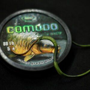 lead core COMODO camo green black 80 lb 5 m 2