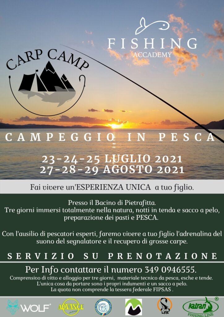 Locandina carp camp 2021